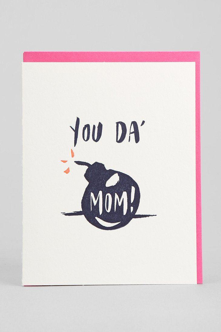 Ladyfingers Letterpress Youda Bomb Mom Card Products I Love Mom