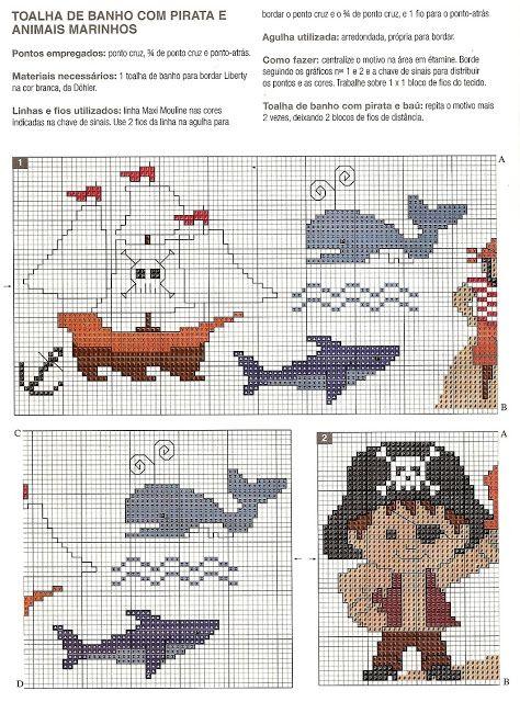 ♥Meus Gráficos De Ponto Cruz♥: Piratas