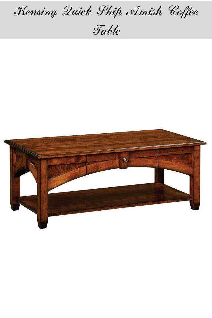Wooden Amish Coffee Table From Our Quick Ship Collection