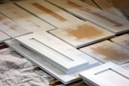 mueble de cocina de madera contrachapada