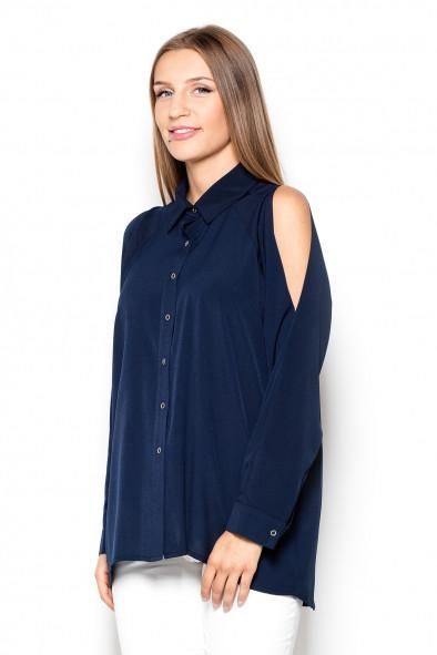 A New Katrus Cold Shoulder Floaty Blouse