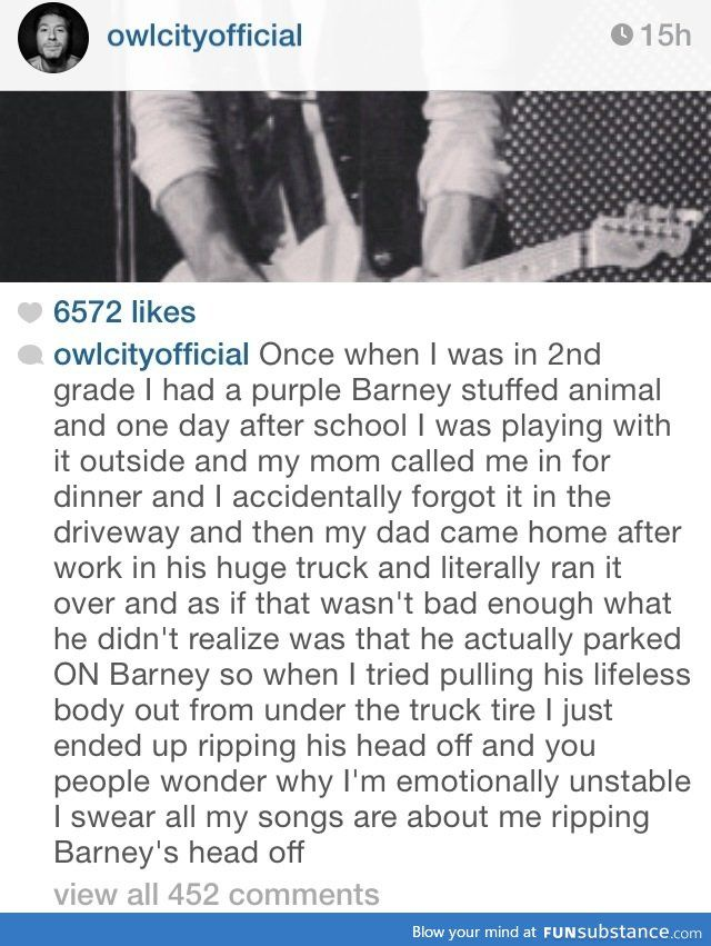 What you stumble upon in owl city's Instagram