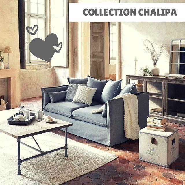 Nouveaute La Collection Chalipa Qui Met En Avant Charme Et Authenticite Avec La Parfaite Alliance Du Bois Et Du Metal Cette Table B Furniture Home Decor Decor