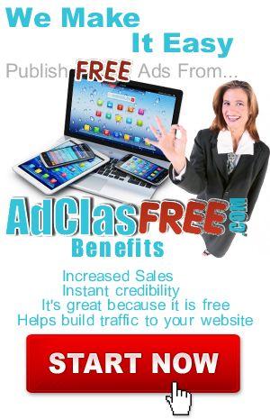 Publish Free Ads - adclasFREE.com