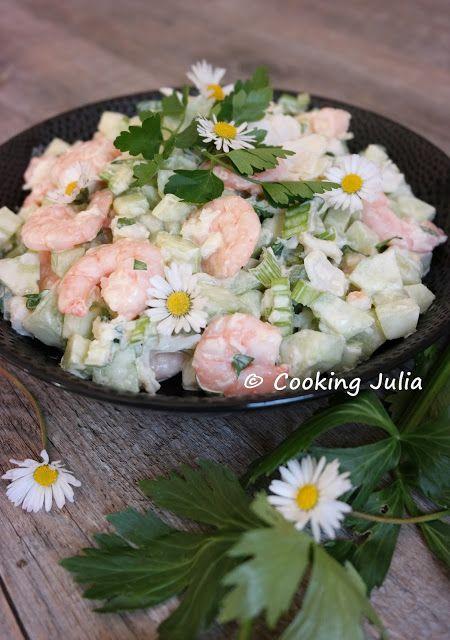 COOKING JULIA: SALADE CROQUANTE EN ROSE ET VERT