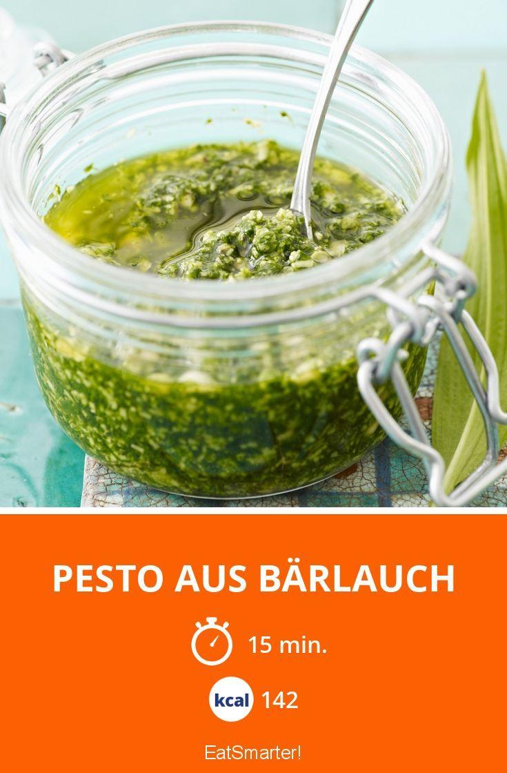 Pesto aus Bärlauch - smarter - Kalorien: 142 Kcal - Zeit: 15 Min. | eatsmarter.de
