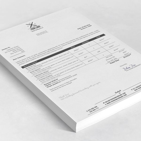 56 best invoice design images on Pinterest Invoice design - print an invoice
