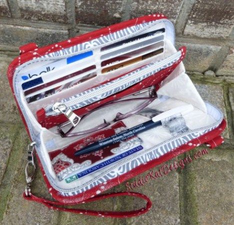 Sew the Walkabout Wristlet Wallet or Cross-body Bag - A paper sewing pattern from Kathy Southern of StudioKat Designs