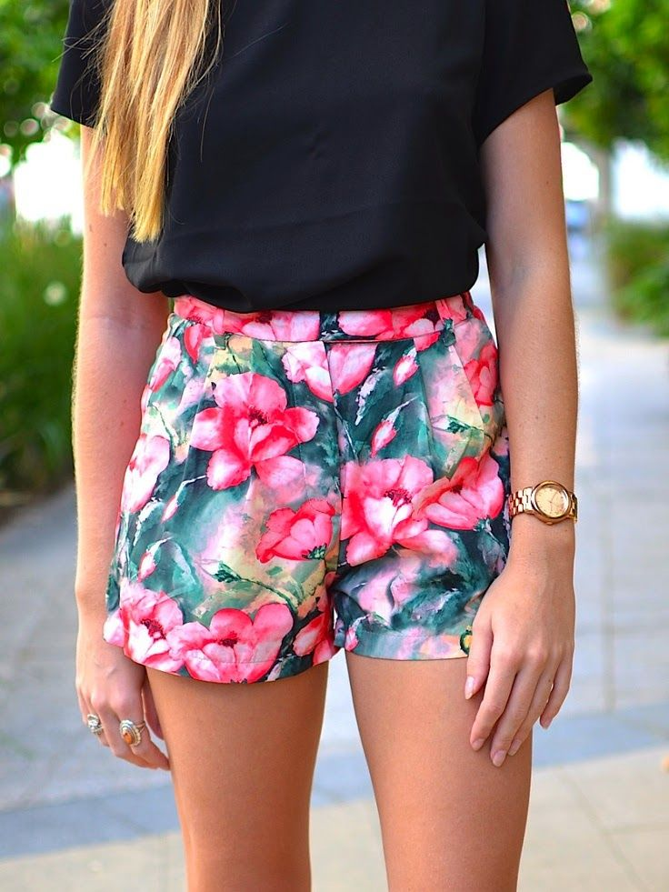 Best 20  Women's floral shorts ideas on Pinterest | Spring clothes ...