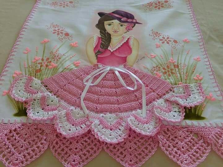 217 best toallas a crochet, para la cocina, y para navidad, o para ...