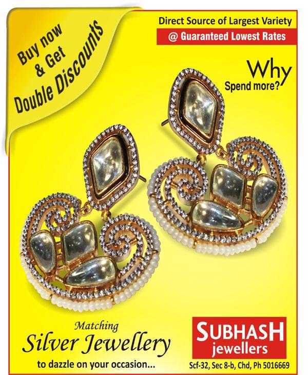 Subhash Jewellers Scf 32, sector 8.b, (inner market) chandigarh, india Ph-9815496688