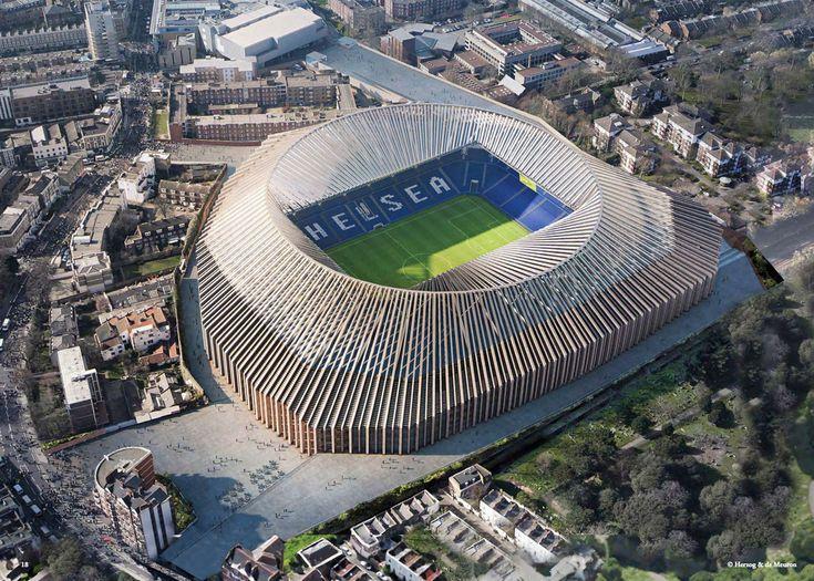 Herzog & de Meuron estádio do Chelsea em Londres,
