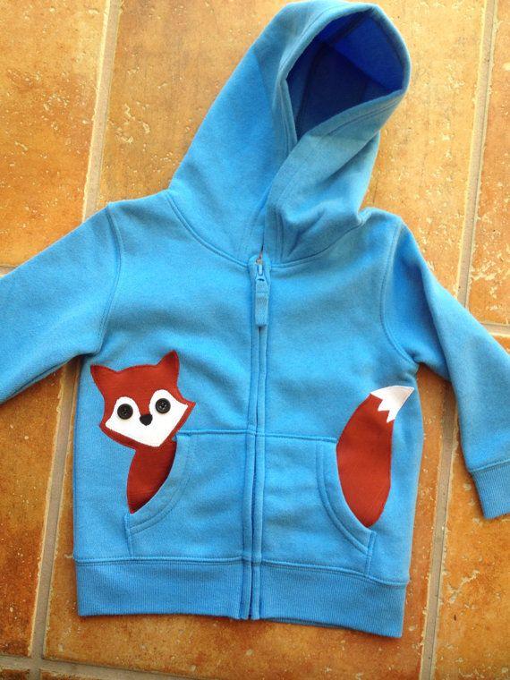 Fox in meiner Tasche Zip Up Hoodie / Jacke / von oohlalajanie, $26.00