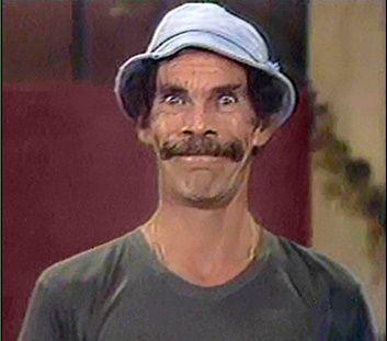 Seu Madruga (Ramon Valdez) do seriado mexicano Chaves.