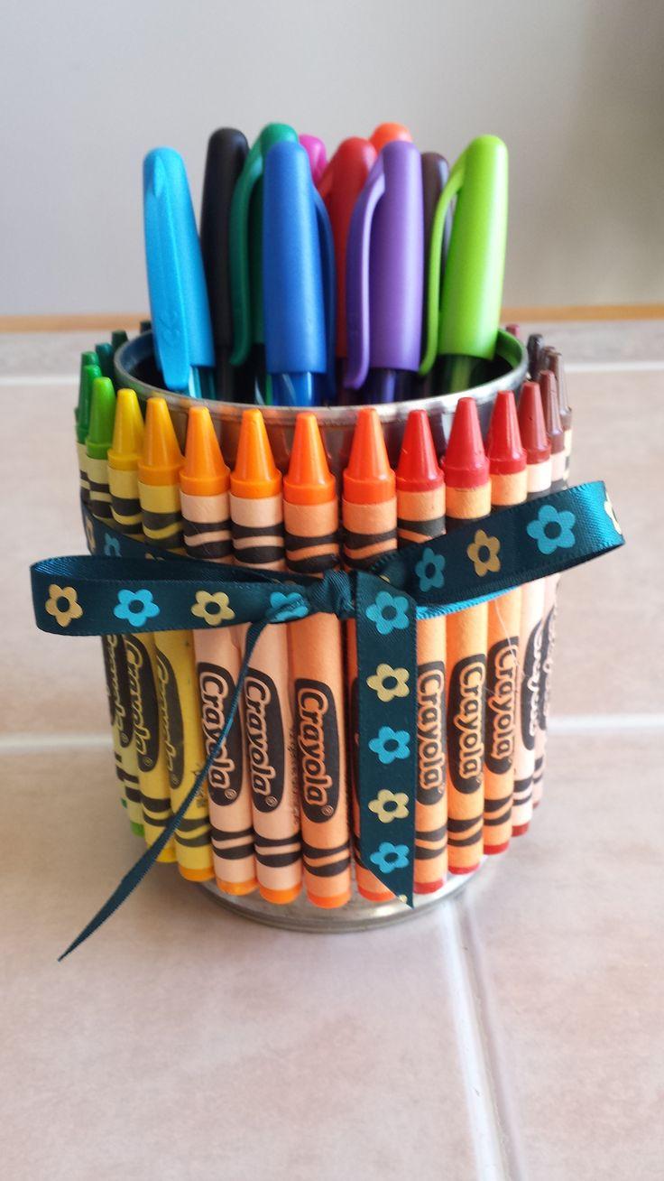 Decorative pensil holder, handmade. 7$ at http://www.nancy-cie.com/#!product-page/c151c/3578a55b-a83f-7ca6-68f9-112a9644de77
