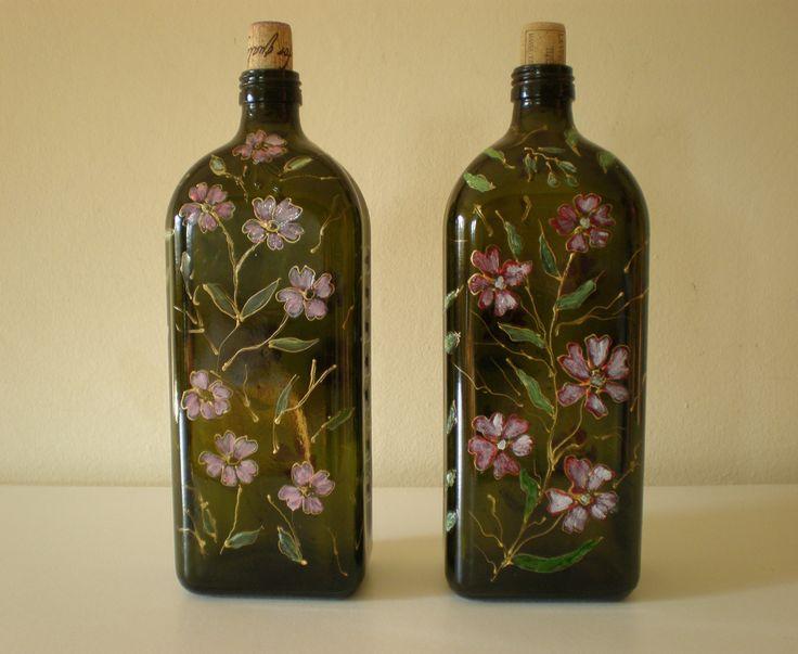 ho dato un nuovo look a vecchie bottiglie di olio. Dana Mincione