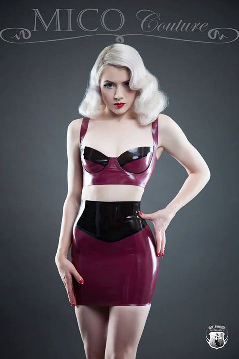 Latex High Waisted Mini Skirt by MicoCoutureLatex on Etsy