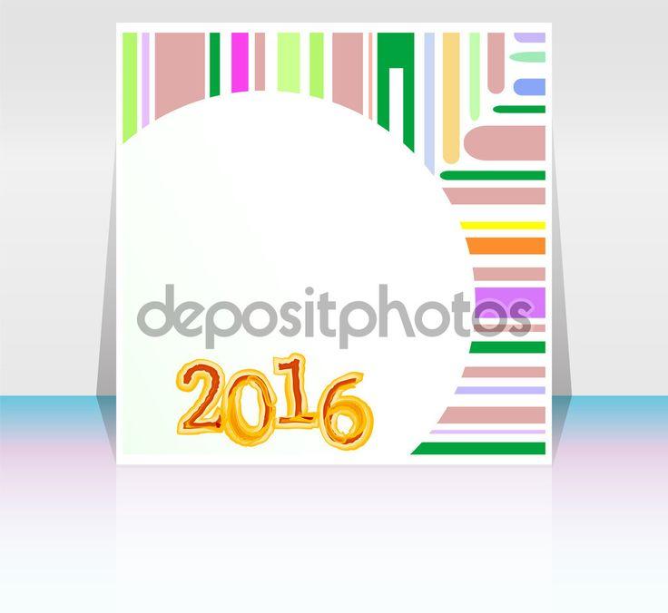 Абстрактні карти нового року 2016. Багатобарвної свято вітальну листівку. Творчі плоский дизайн, концепція банера, плаката, дизайн flyer партія ніч — стокове зображення #80523808