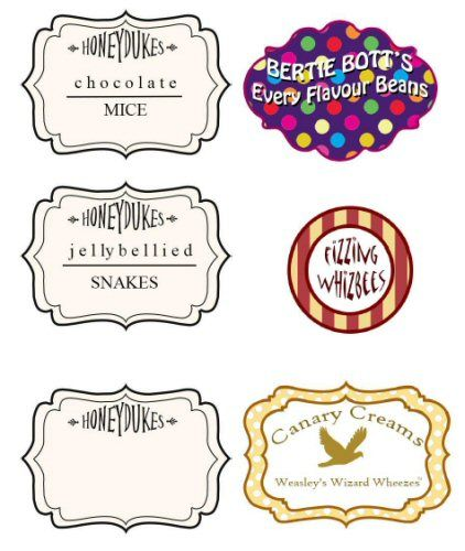 harry potter free printables | potter parties so here are the labels i used for liam s harry potter ...