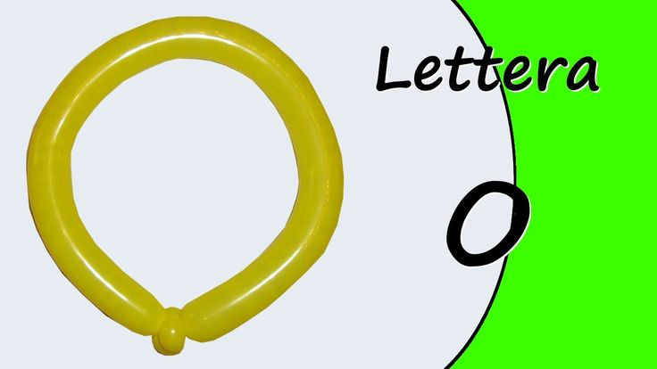 Video tutorial on how to make the letter O with balloon twisting. Learn the alphabet with balloons modeled #alphabet #letterO
