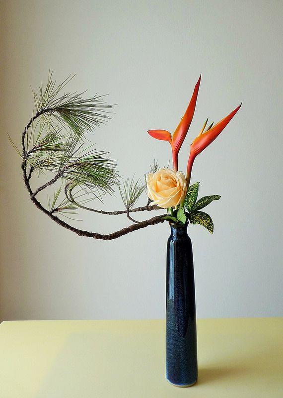 Ikebana. Fotografia: Grace1868 no Flickr.