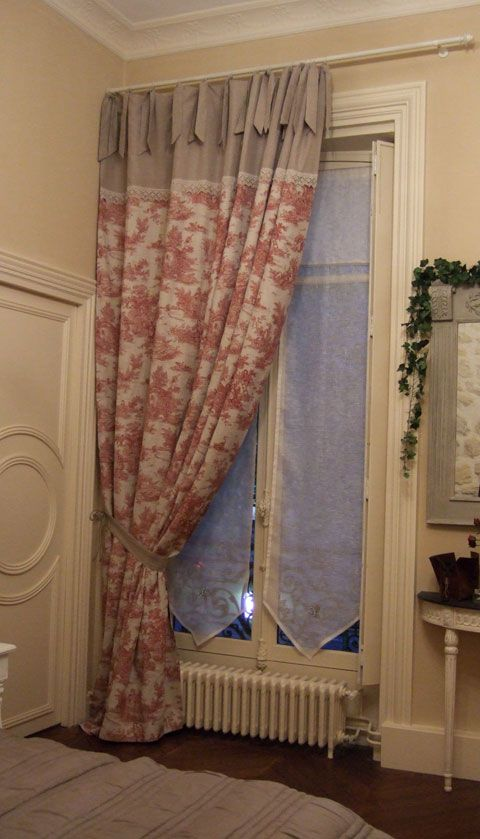 One way to lengthen a curtain panel