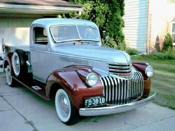 Tom Fortier is the proud owner of this fully restored 1942 Chevy BL 3/4 ton pickup.     For more go here: http://forsgrens.com/chevy-trucks/