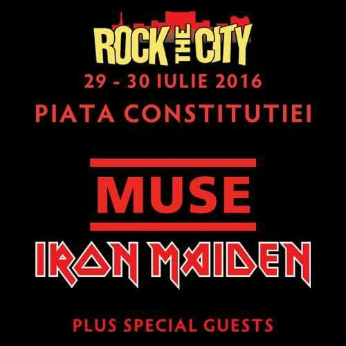 Rock the City Festival 29-30 July 2016: Muse&Iron Maiden