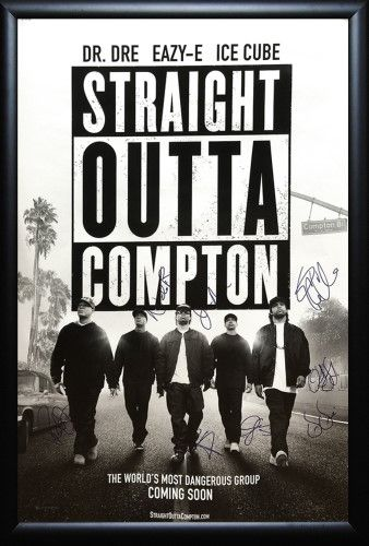 Straight Outta Compton Signed Movie Poster Com Imagens