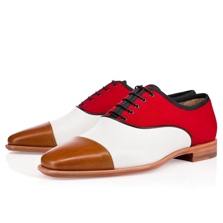 Olympio Flat Rouge Canvas Cotton / Christian Louboutin