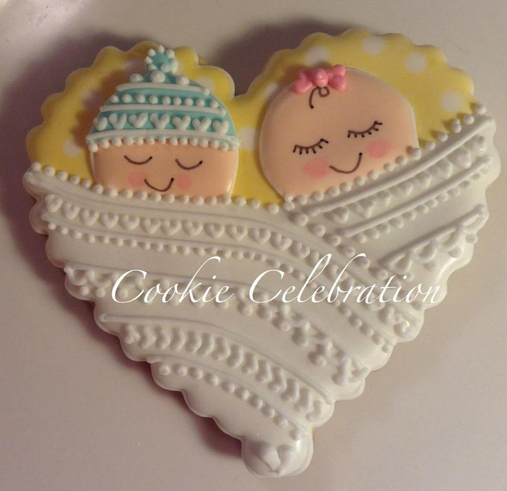 Sleeping Twin Babies by www.cookiecelebration.com | Cookie Connection