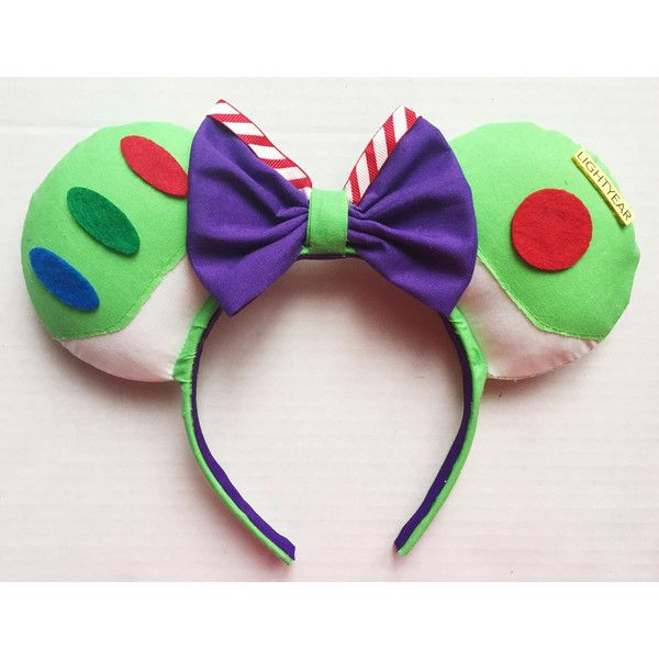 Buzz Lightyear Inspired Mouse Ears ($30) ❤ liked on Polyvore featuring jewelry, earrings, infinity jewelry and infinity earrings