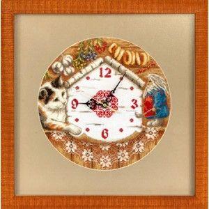 """Panna """"Часы. Домовенок Поварешкин"""" Ч-1393 наборы для вышивания  интернет-магазин Salfetka-shop.ru"""