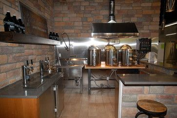 Our new Home Pub rustic-home-bar