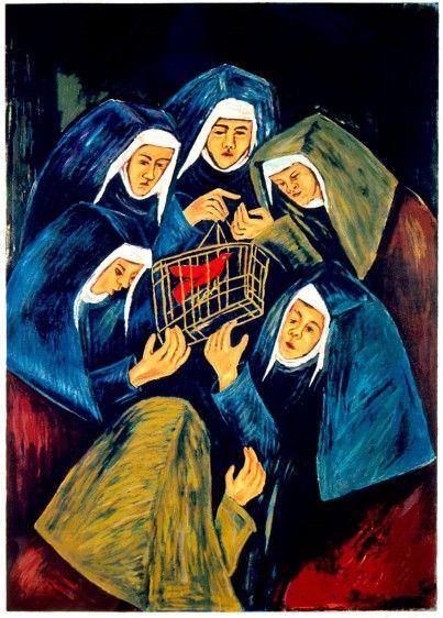 El recreo - Las monjas y el cardenal. - Débora Arango
