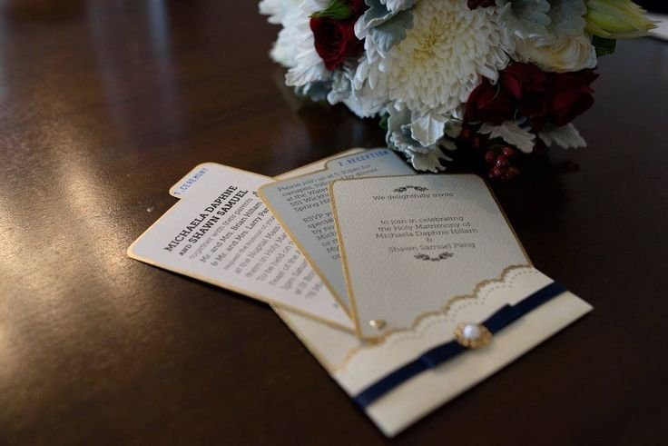 Invitations for our wedding