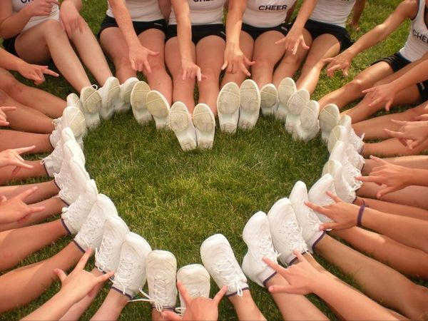 You need special shoes for cheerleading - and a bit of a special soul as well. Any man can hold a girl's hand, but only the elite can hold her feet. ~Author Unknown cheerleading