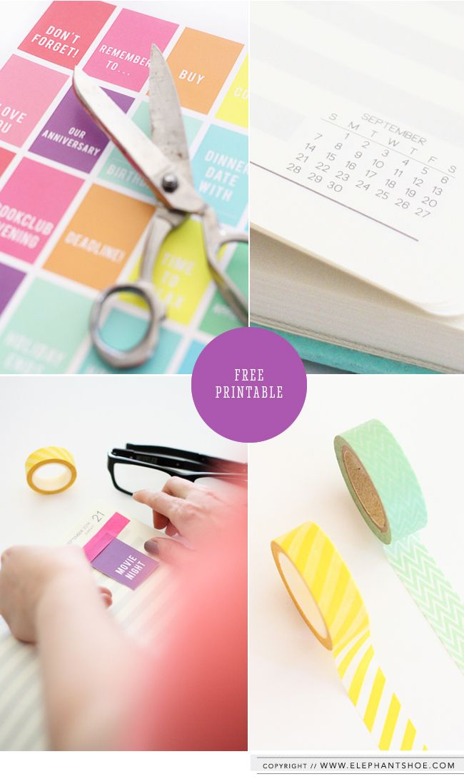 Our pretty blog - Decorate your Diary Free Printable — Elephantshoe blog