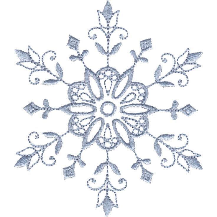 "This free embroidery design from Embroidery Online is called ""Snowflake Accent 2″."