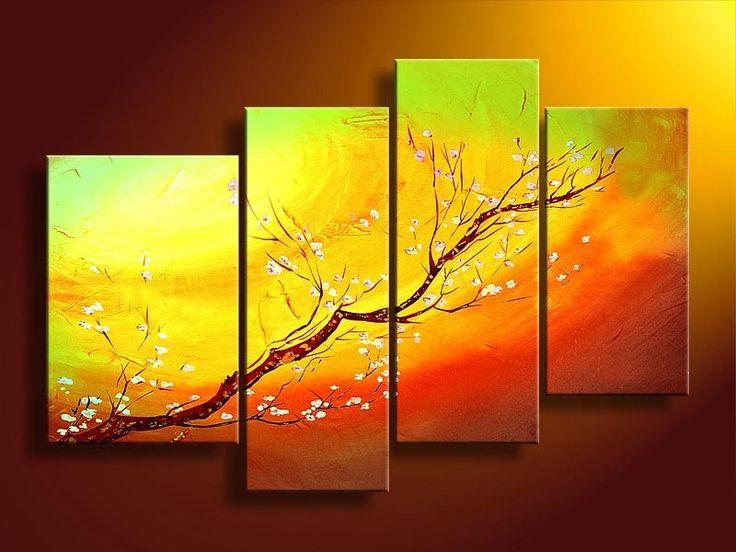 Cuadros Abstractos Tripticos Dipticos Etnicos Flores - $ 800,00 en MercadoLibre