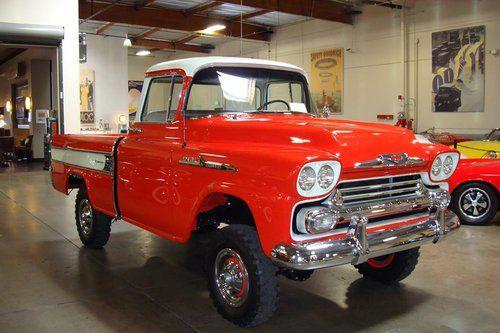 1958 chevrolet cameo pick up napco 4x4 front trucks pinterest 4x4. Black Bedroom Furniture Sets. Home Design Ideas