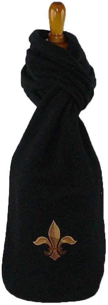 Brown & Bronze Fleur di Lis Monogram Scarf Black Warm Winter Fleece Gift NWT! #PortAuthority #Scarf