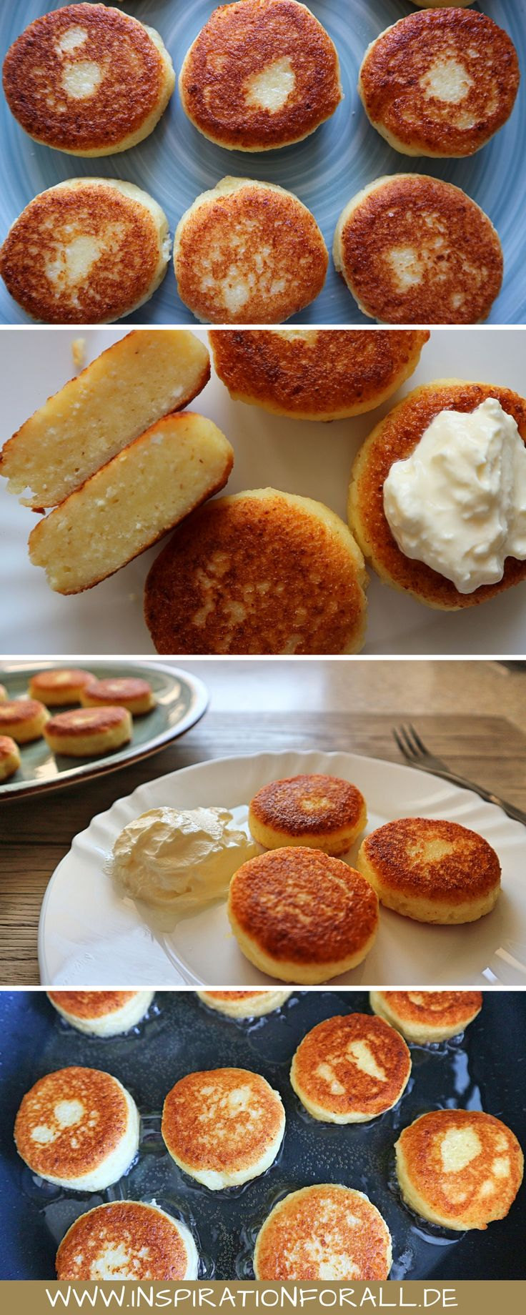 Quark Pfannkuchen russisch | einfaches Rezept ohne Mehl leckeres syrniki | schön …   – Leckere Rezepte von inspirationforall.de – einfach, schnell, besonders
