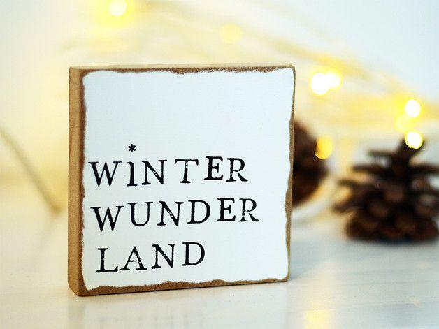 Weihnachtsdeko – Wandbild aus Holz – Winter Wunder Land – ein Designerstück von JadeGrafik bei DaWanda