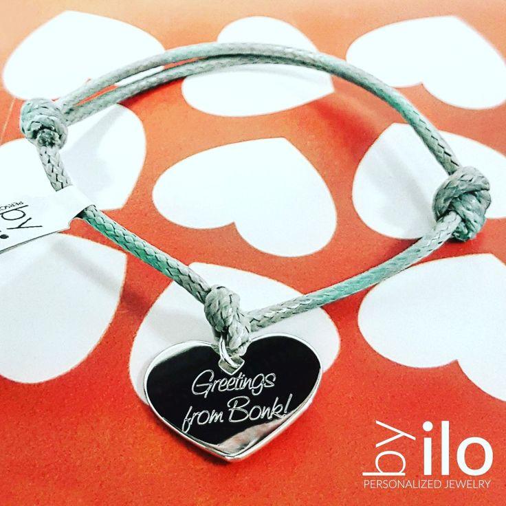 Heart bracelet ❤ #bracelet #engraving #gift