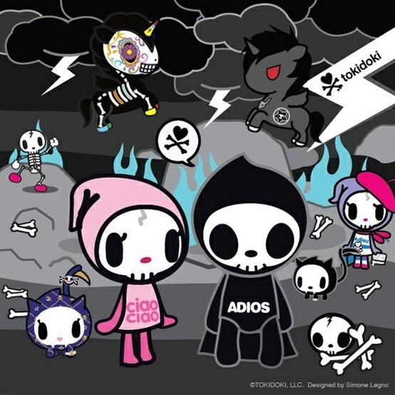 Toki Doki Art - Skulls