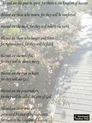 Shincheonji Andrew Tribe's blog: Jesus Teachings: The Beatitudes in the Bible