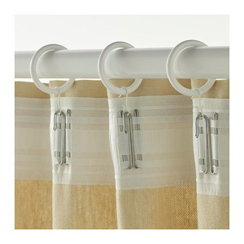 SYRLIG Curtain ring with clip and hook IKEA You can hang your curtains with either combination - rings with clips or rings with hooks.