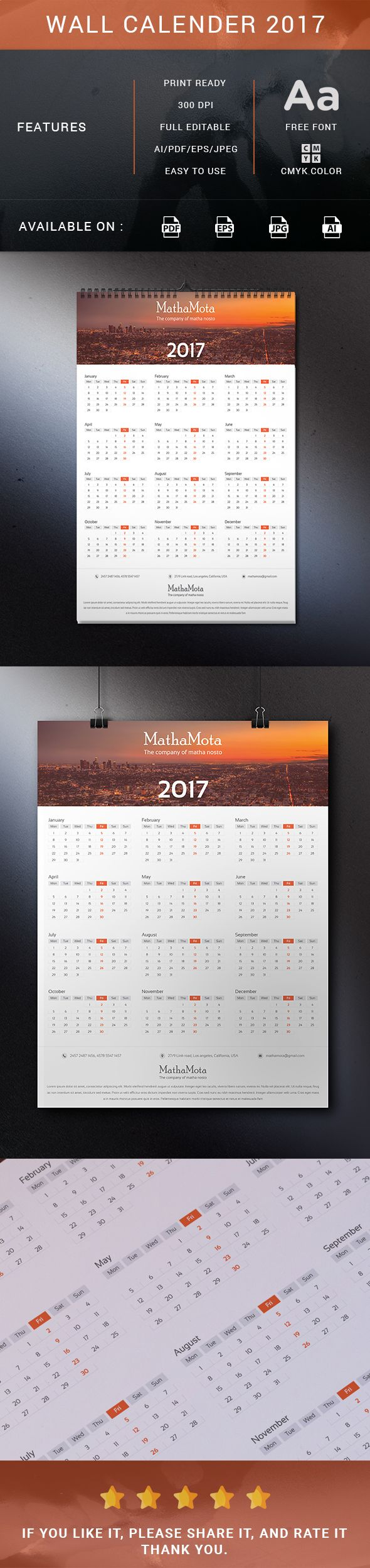 "Check out my @Behance project: ""Wall calender 2017"" https://www.behance.net/gallery/46016379/Wall-calender-2017"
