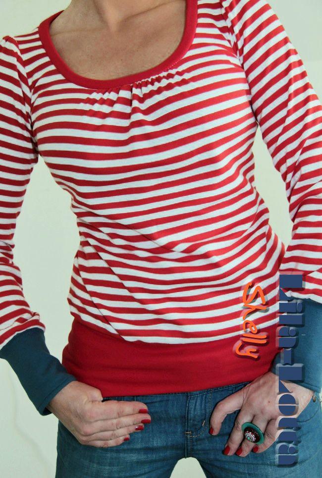 Das Shirt ist wirklich schnell genäht und total vielfältig. Shelly könnt ihr immer passend zu jeder Jahreszeit nähen. Ich habe mich schon für die sommerliche Version entschieden.